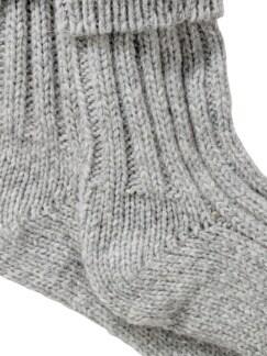 Alpaka-Socke hellgrau Detail 4