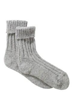 Alpaka-Socke hellgrau Detail 1