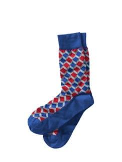 Nonkonformisten-Socke royal blue gem. Detail 1