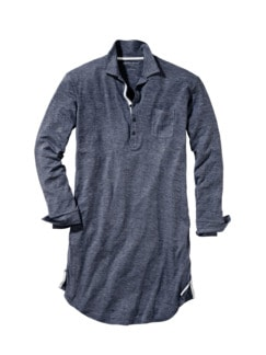 Neo Nightshirt blue mottled Detail 1