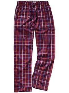 Pyjamahose Check Karo rot Detail 1