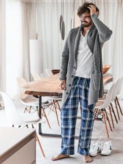 Pyjamahose Ranga Karo blau Detail 3