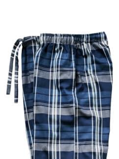 Pyjamahose Ranga Karo blau Detail 4