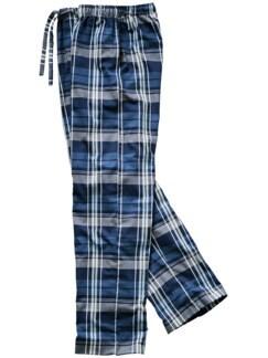 Pyjamahose Ranga Karo blau Detail 1