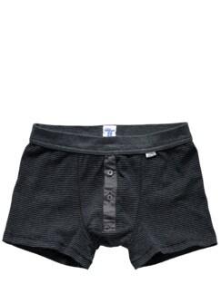 Revival-Shorts Streifen grau Detail 1