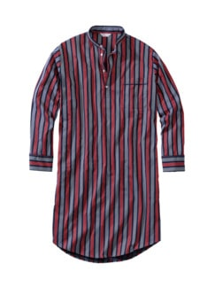 London's Nightshirt Streifen rot/navy Detail 1