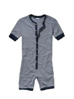 Revival-Loungewear Streifen blau/weiß Detail 1