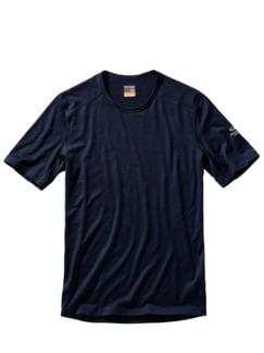 Icebreaker Base-Shirt mitternachtsblau Detail 1