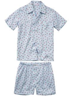 Prince Charming Pyjama hellblau Detail 1