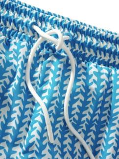 Haifisch-Badeshorts pazifikblau Detail 4