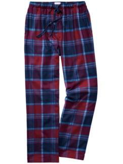 Pyjamahose Scott Karo rot/blau Detail 1