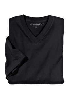 Regular Benchmark-Shirt V-Neck schwarz Detail 2