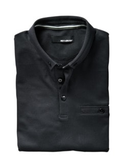 Polo-Shirt schwarz Detail 1