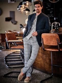 Bretagne-Shirt Streifen ecru/marine Detail 4