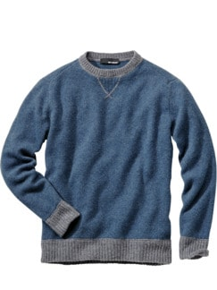 Wollfilz-Sweater fernblau Detail 1