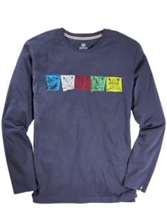 Gebetsfahnen-T-Shirt anthrazit Detail 1