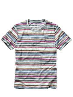 Buntstift-Shirt Cinuno Streifen bunt Detail 1
