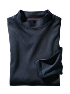Turtleneck Longsleeve blau Detail 1