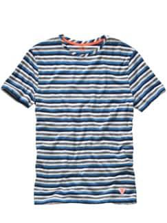 T-Shirt Cineo Streifen blau /weiß Detail 1