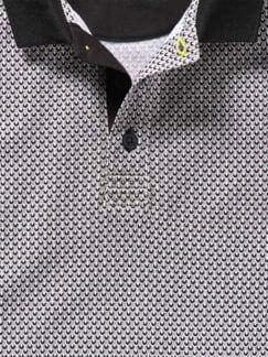Anzugpolo schwarz/weiß Detail 2