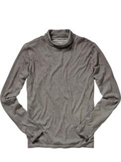 Majestic Tee Rollkragen-Shirt taupe Detail 1