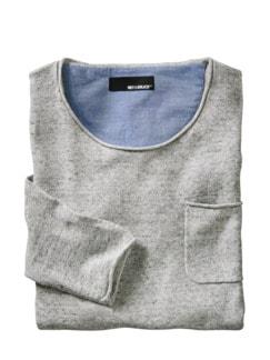 Über-20-Grad-Pullover grau Detail 1