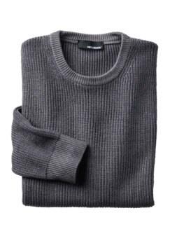 Kann-doch-Pullover grau Detail 1