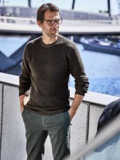Kann-doch-Pullover braun Detail 4