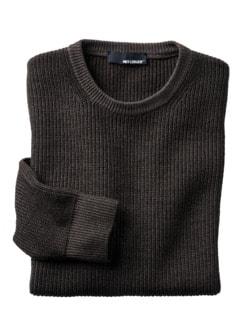 Kann-doch-Pullover braun Detail 1