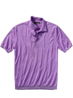Strick-Polo lila Detail 1