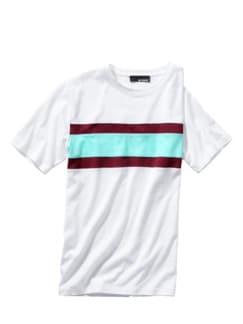 Pectoralis-Streifenshirt weiß Detail 1