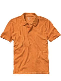 Majestic Polo orange Detail 1