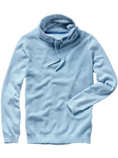 Kasten-Pullover hellblau Detail 1