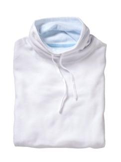 Kasten-Pullover weiß Detail 1