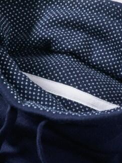Kasten-Pullover marine Detail 3