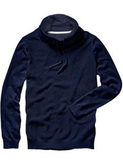 Kasten-Pullover marine Detail 1