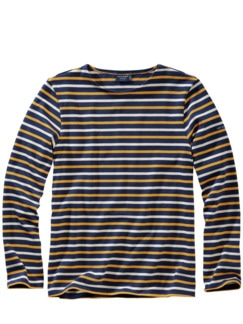 Bretagne-Shirt Meridien blau/gelb/ecru Detail 1