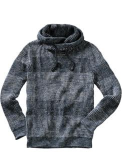 Cowl-Neck-Pullover rauchblau Detail 1