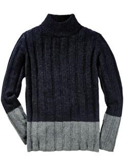 Unsung Hero-Pullover navy/grau Detail 1