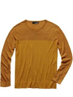 Gewürz-Pullover safrangelb Detail 1