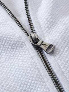 Seventies-Cardigan weiß Detail 4