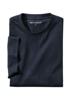 Regular Benchmark-Shirt Rund marine Detail 1