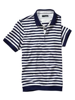 Polo-Shirt Apollon Streifen blau Detail 1