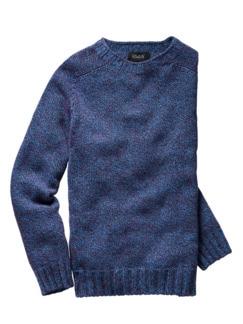 Pullover Barabas lichtblau/bordeaux Detail 1