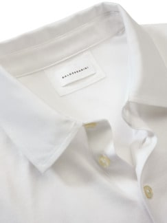Superfeines Polo weiß Detail 3