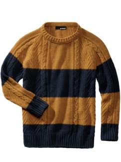 Komplementär-Pullover senf/navy Detail 1