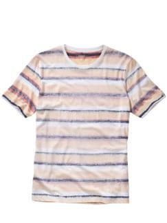 T-Shirt Cimarco Streifen rost Detail 1