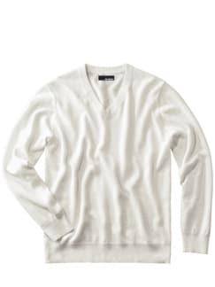 Weißer Pullover offwhite Detail 1