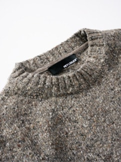 Tweed-Pullover taupe Detail 3