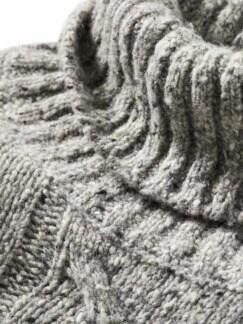 Fischerseil-Pullover grau Detail 4
